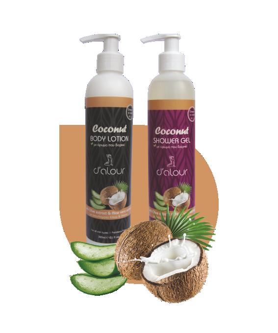 Body lotion & Shower gel Coconut – Γαλάκτωμα σώματος & αφρόλουτρο με εκχύλισμα αλόης