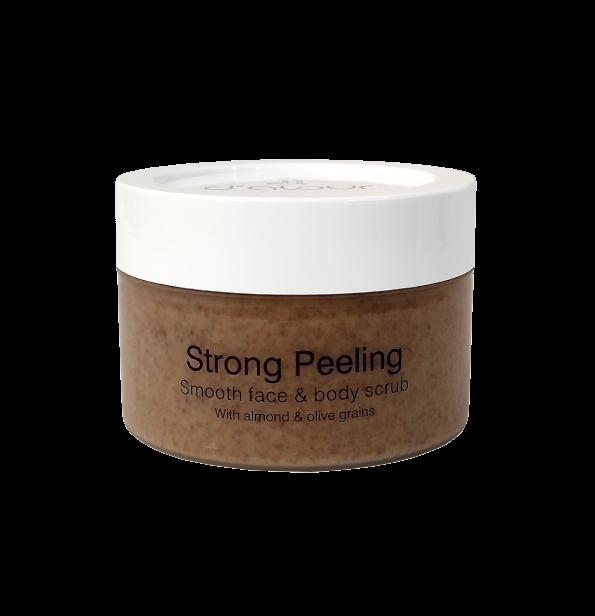 Strong Peeling – Peeling με φυσικούς κόκκους αμυγδάλου & ελιάς