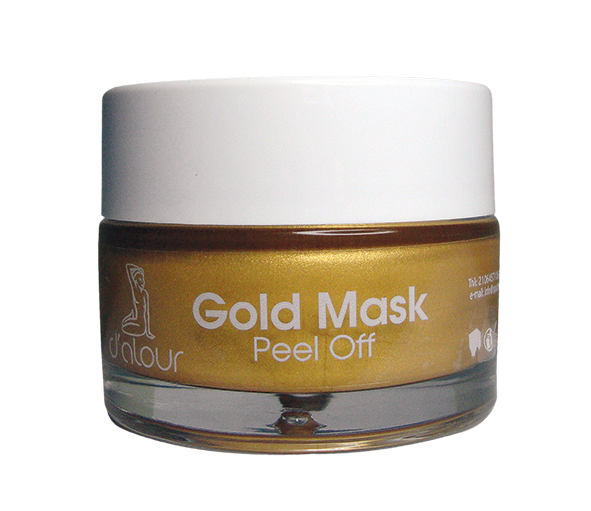 Gold peel off mask – Χρυσή μάσκα λάμψης με υαλουρονικό